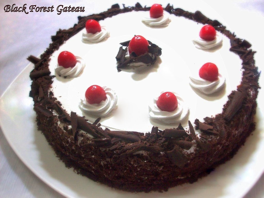 Black Forest cake (American English) and Black Forest Gateau (British ...