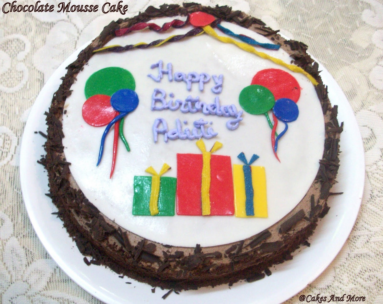 Birthday Cakes Images For Name Aditi ~ Cakes more chocolate cream cake
