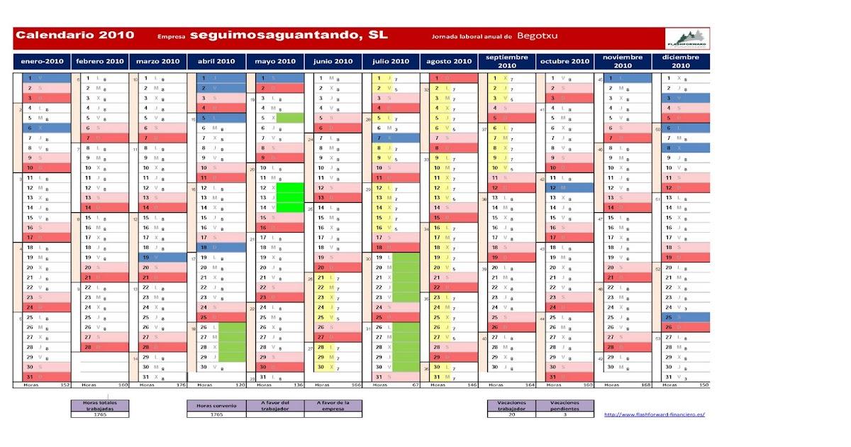 Tenso o largo cuerda: ¿Cómo hacer un calendario laboral para el 2010 ...