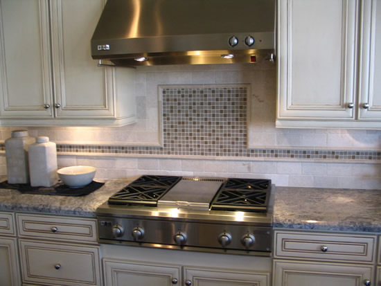 Barnyard tile backsplash installation