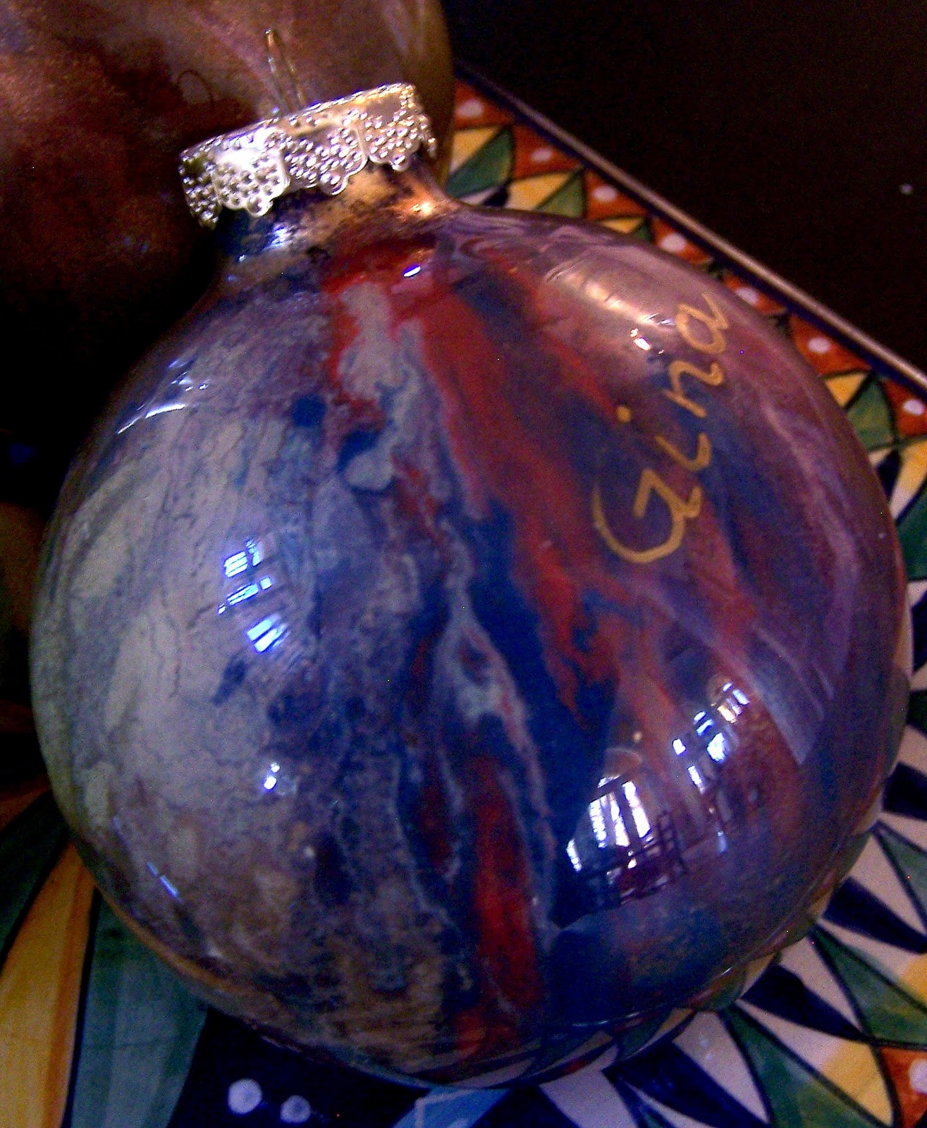 How-To: Decorating Clear Glass Christmas Ornaments - YouTube