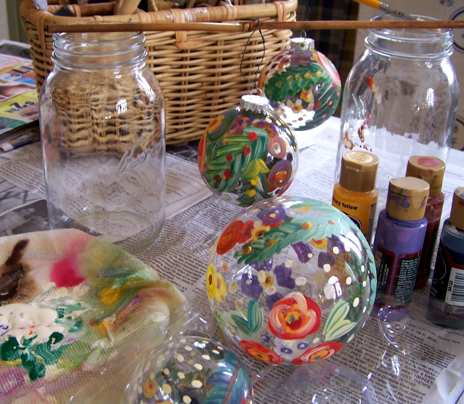 Hand Painted Glass Christmas Ornaments  How To