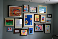 Our Kids' Art Gallery Wall...