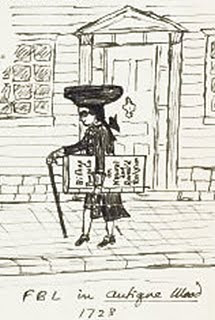 Caricatura di Frank Belknap Long disegnata da Lovecraft