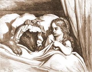 Cappuccetto Rosso, incisione di Gustave Doré