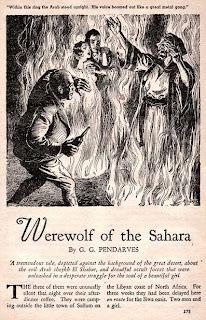 Illustrazione di Harold S. De Lay in Weird Tales, agosto-settembre 1936