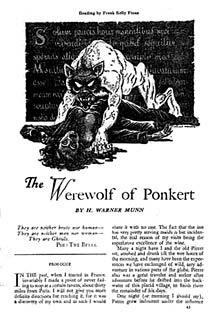 Illustrazione di Frank Kelly Freas, Weird Tales, luglio 1925