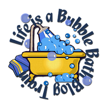 life is a bubble bath blog train