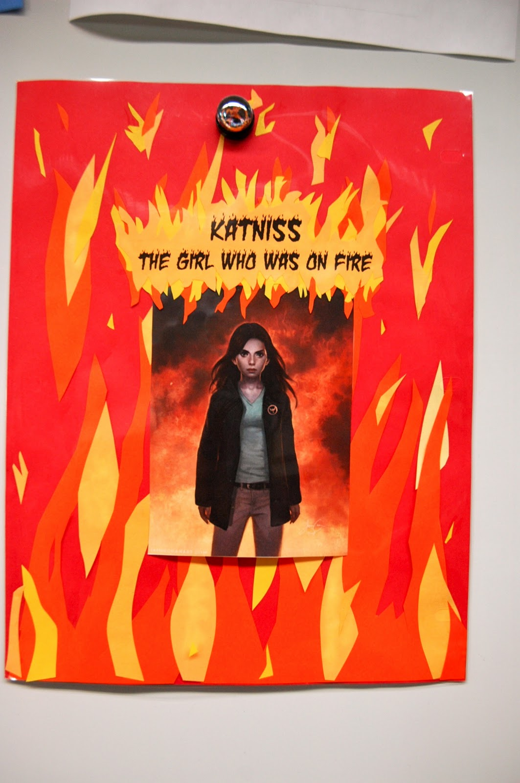 the girl on fire hunger games book