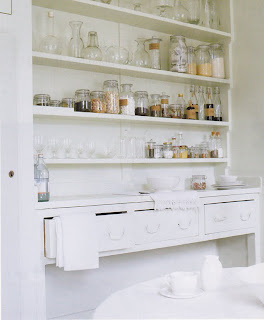 Kitchen shelving by Living etc