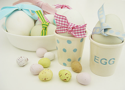 Ceramic handmade egg cups by Sorbet Living