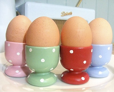 Ceramic handmade egg cups by Patchwork Daisy