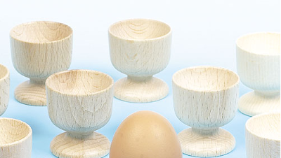 Design-a wooden egg cup by Baker Ross