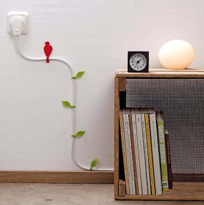 Wire bloom decorative cable hooks by Colloco