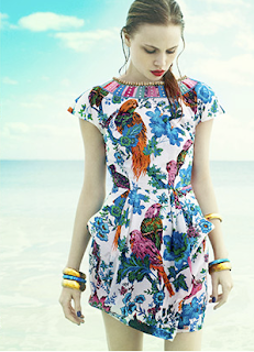 Bird print dress by Monsoon