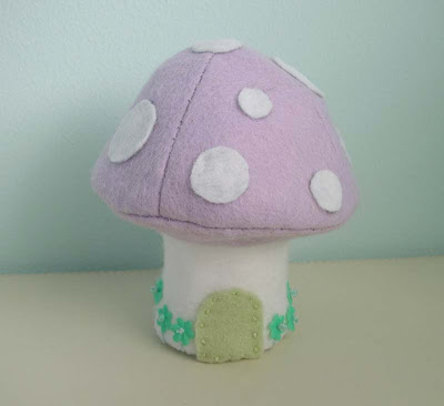 Lilac felt Easter mushroom