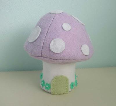Lilac felt Easter mushroom