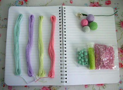 Easter sketch book with trims