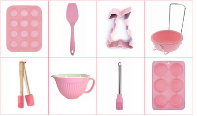Pink Princess baking utensils