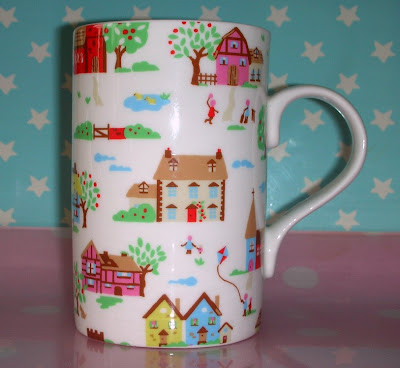 Cath Kidston pastel cottage mug