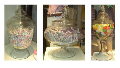 Candy jars in Ralph Lauren in Hong Kong, photo taken by Torie Jayne