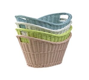 Steady sticks: wicker basket