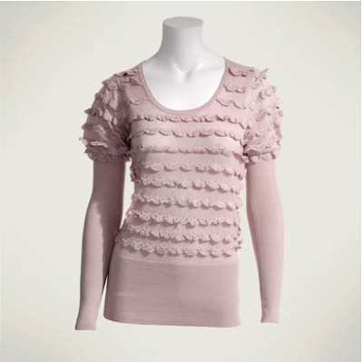 Crochet frill sweater by Reiss