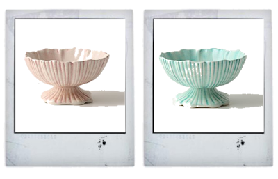 Pastel dessert bowls from Anthropologie