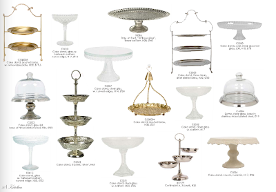 Cake plates and stands from Lisbeth Dahl