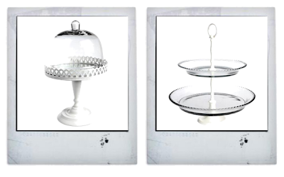 Glass cake stands from Dot Com gift shop