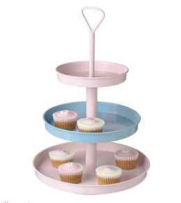 Tiered pastel cake stand from Great Little Trading Company