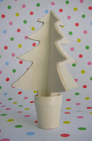 Wooden Christmas tree by Torie Jayne