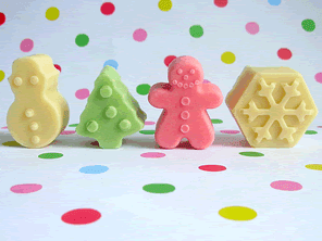 Christmas pastel chocolates by Torie Jayne