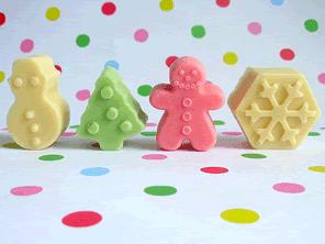 Christmas pastel chocolates by Torie Jayne