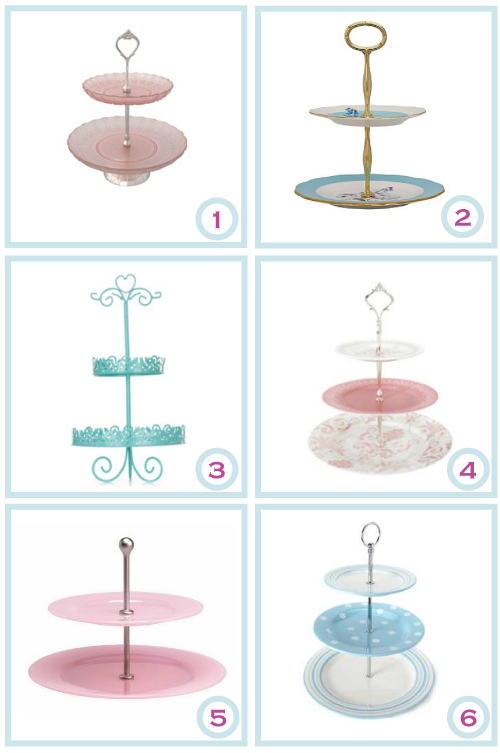 Tiered cake stands by Torie Jayne