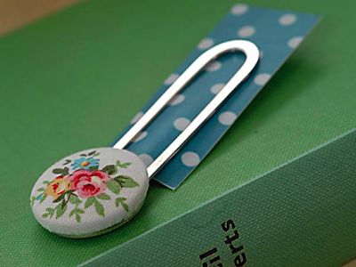Mrs Moon vintage fabric bookmark by Acorn and Will