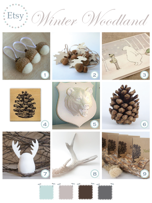 An Etsy Winter Woodland by Torie Jayne