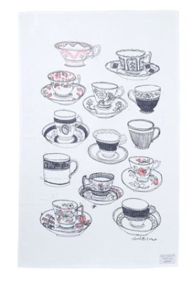 Time for tea tea towel by Charlotte Farmer