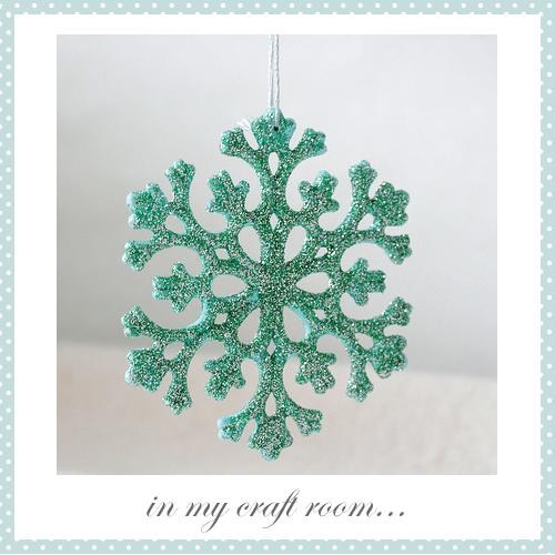 Glittered Snowflake by Torie Jayne