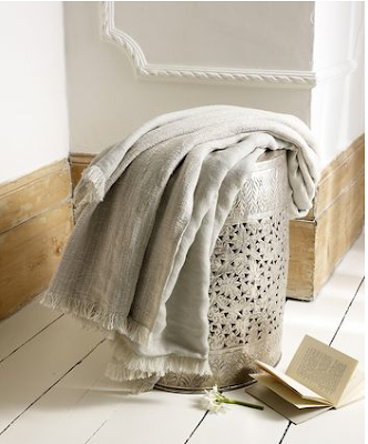 Willow linen cotton throw by Lombok
