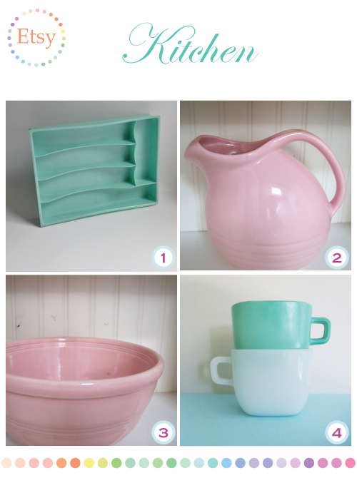 Vintage Kitchen supplies on Etsy