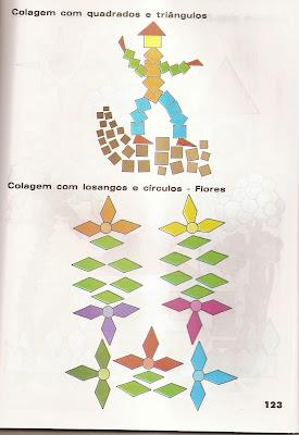 ARTES2 Arte : Recorte e colagem com figuras geométricas. para crianças