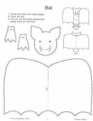 tubo+morcego Atividades para o dia das bruxas e lembrancinhas. para crianças