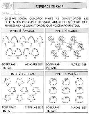 Atividades+para+Casa+(58) Atividades de matemática. para crianças
