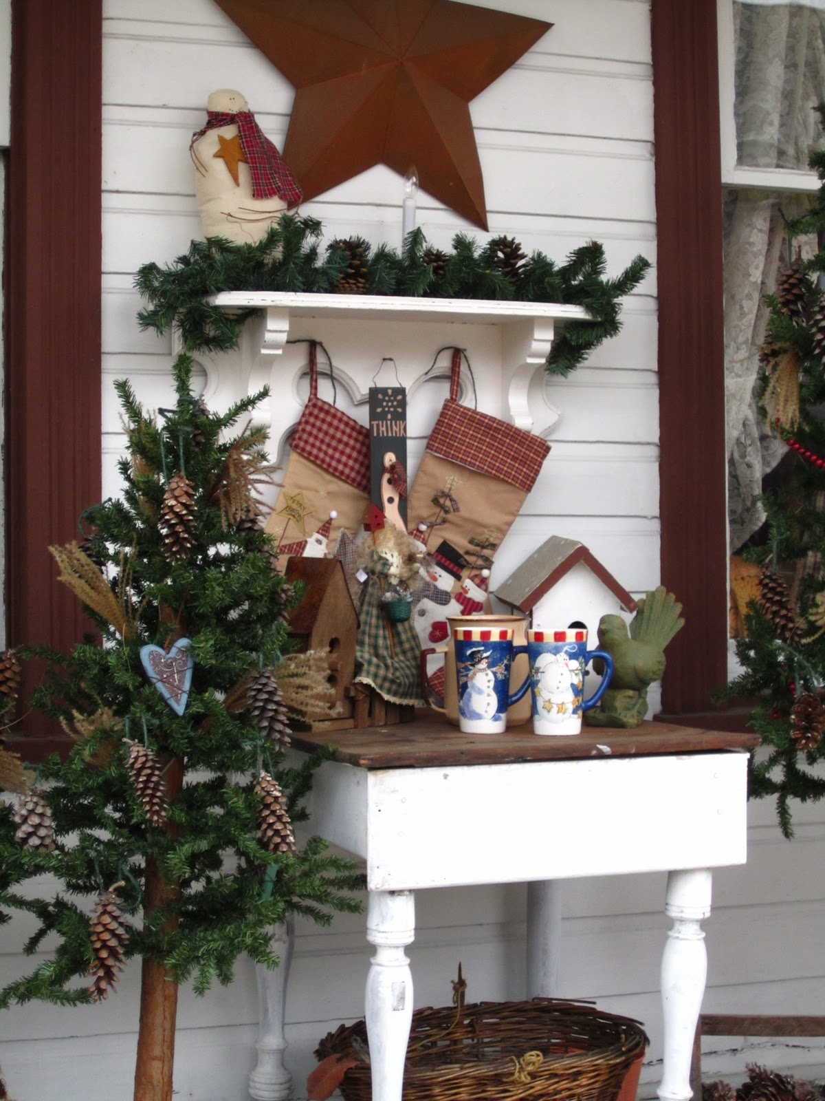 Country Christmas Decorations For Front Porch : Suesjunktreasures rustic country christmas on my front