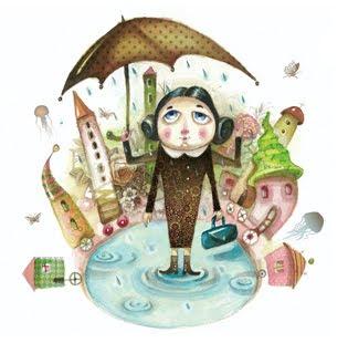nô esernyô tó áll ház women umbrella pond house