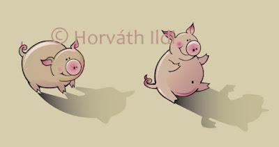 állat reklámfigura tervezés character design