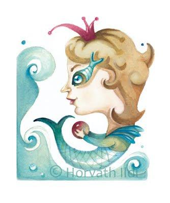 sellô figura víz játszik mermaid play water
