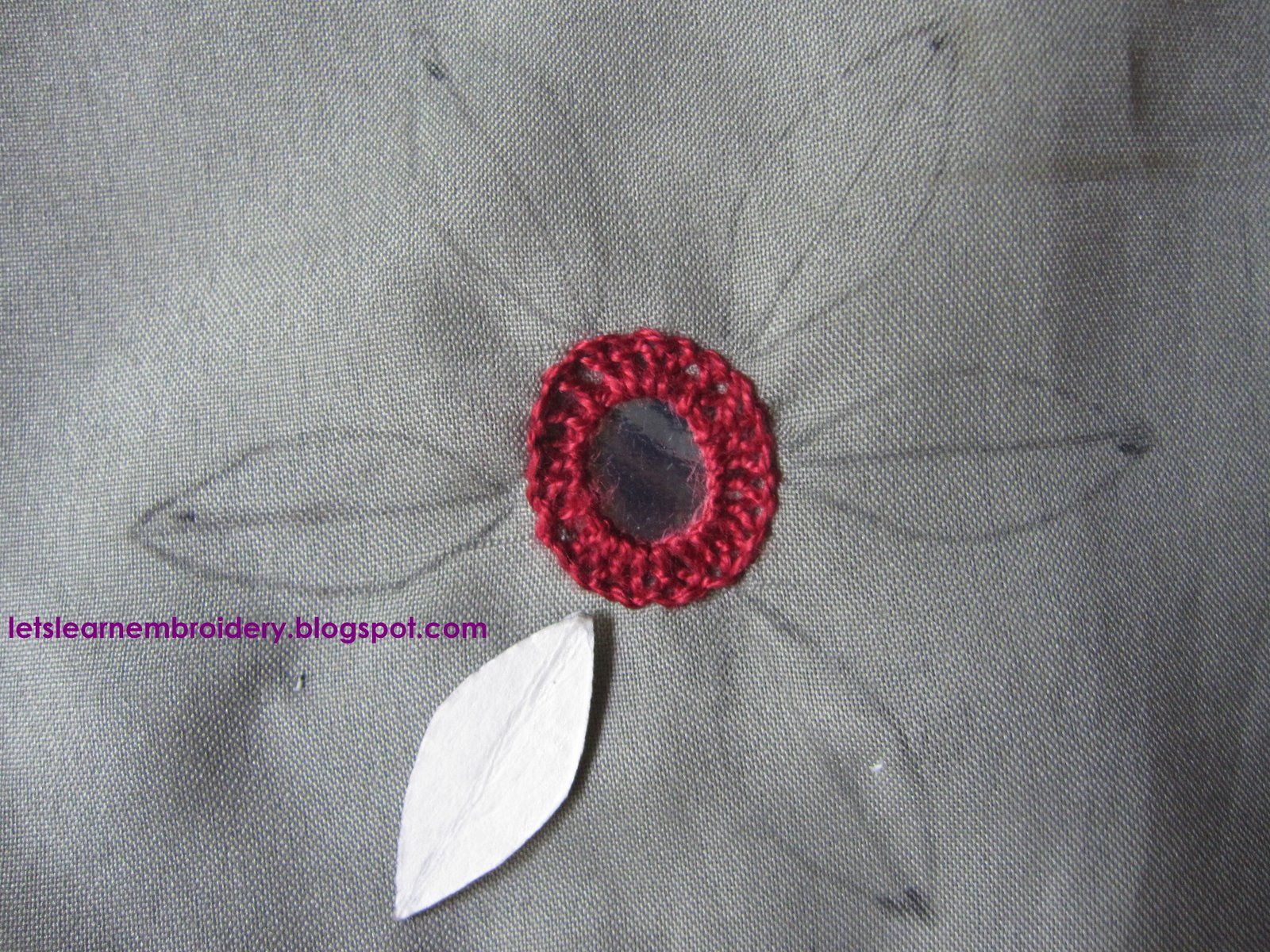 Let s learn embroidery mirror work fly stitch petals