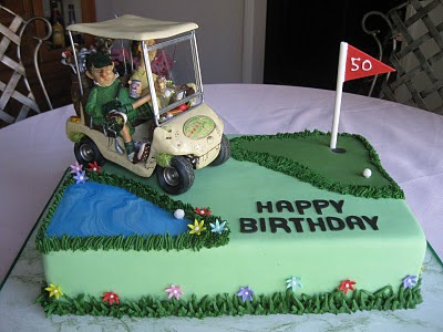 Images Of Birthday Cakes With Golf Cart And David